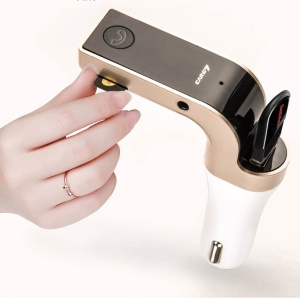 G7 Smart Car Bluetooth MP3 Player FM Transmitter USB Car Charger Hands-free Car Kit - Gold