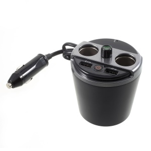 401E Multi-functional Cup Car Bluetooth MP3 Player with 2 Cigarette Lighters and 2 USB Port