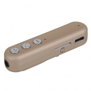 i8 Wireless Bluetooth 4.2 MP3 Player 3.5mm Jack Aux Audio Receiver Adapter Supports TF Card - Gold