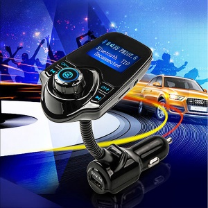 T10 1.44-inch Bluetooth Car Kit Hands-free MP3 Music Player