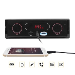 12V Universal Car Bluetooth FM Radio Receiver AUX Stereo Audio MP3 Player