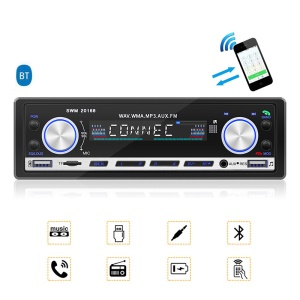 FM Radio Car Bluetooth AUX TF Card U Disk Stereo Audio MP3 Player
