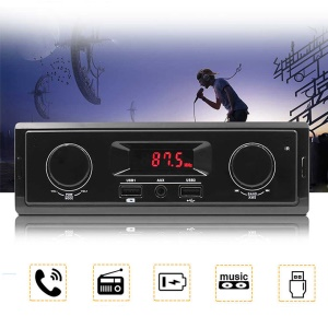 Digital AUX Stereo Audio MP3 Player Car FM Radio Receiver