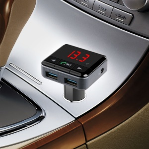 BC12 Bluetooth Hands-free Car Kit FM Transmitter MP3 Player with Dual USB Charger