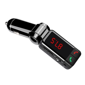 YHW BC06B Bluetooth Car Charger with MP3 Player FM Transmitter Dual USB Ports