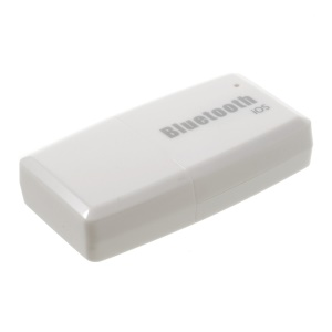 ELICKS EC502 USB Bluetooth Android Audio Music Receiver Adapter with 3.5mm Audio Output - White / IOS Version
