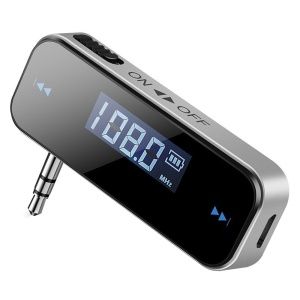 3.5mm Car Wireless Hands-free FM Transmitter Audio Adapter
