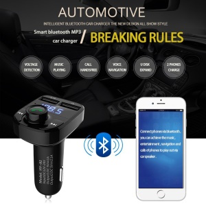 HY-82 Car Hands-free Bluetooth MP3 Music Player FM Transmitter with Dual USB Output
