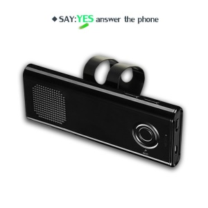 Bluetooth 4.1 Sun Visor Car Speakerphone A2DP Streaming Hands-Free Car Kit - Black