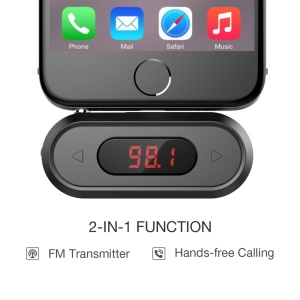 VINSIC DOOSL 3.5mm Car Wireless Hands-free FM Transmitter Audio Adapter (CE,RoHS,FCC)
