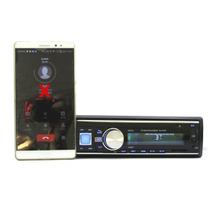 Bluetooth MP3 USB SD Music Player FM Radio Car Audio with Remote Controller - Black