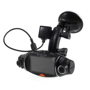 R310 Car DVR Camera Car DVR GPS Dual Camera HD 1080P Night Vision Dual Lens DVR Recorder Dash Cam 2.7 Inches Video Recorder IR
