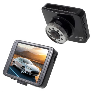 A208 1080P Full HD Car DVR Camcorder 2.7-inch 120-Degree Wide Angle Dash Cam Support Motion Detection