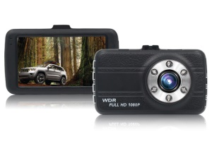 A10 3.0-inch FHD 1080P 170-Degree Wide Angle HDR Car DVR Support Motion Detection Parking Monitor