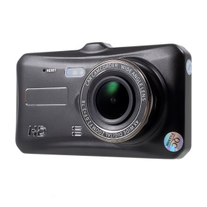 A6T 4-inch 1080P Full HD Dual Lens Touch Screen Vehicle BlackBox DVR with Night Visual