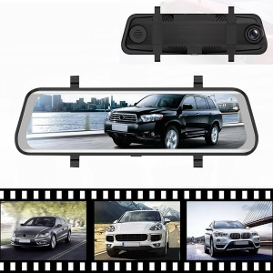 RM-LZ9660 9.66 inch Dual Dash Camera with Full HD Touch Screen and 170 Degree Wide Angle