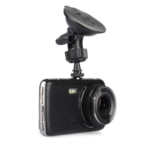 "4"" Dual Camera Car DVR Camcorder 1080P Full HD 120-Degree View Angle (TH-H84-96658)"