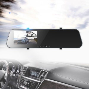 ROCK A2 4.3 Inch Dual Lens Camera HD 1080P Car DVR Rearview Mirror Camcorder