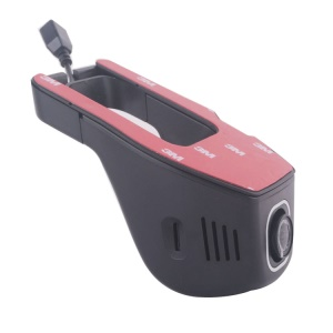A8-D WiFi Connection No Screen Single Camera Car DVR, Support Parking Detection / G-sensor / Night Vision Etc