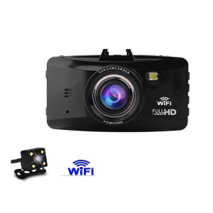 W100C WiFi Connection 2.7-inch HD Single Camera Car DVR, Support Parking Detection / G-sensor / Loop Record Etc