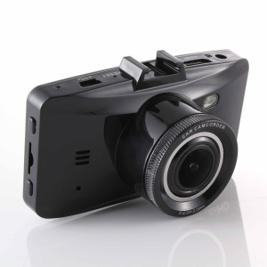 """H100 Car DVR 2.7"""" 1080P Full HD Camcorder with Night Vision 24-Hour Parking Detection - Black"""