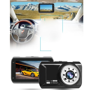 FH05 3.0 inch 1080P Full HD Car DVR 170° Wide Angle Driving Recorder with G-sensor and Night Vision - Black