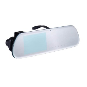 C10 Dual Lens 1080P HD Car Video Recorder 2.5D Anti-glare Rearview Mirror with 140 Degree Wide Angle