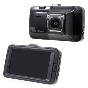 FH01 3.0 Inch Full HD 1080P Car Video Recorder Vehicle Car DVR with 170 Degree Wide Angle - Black
