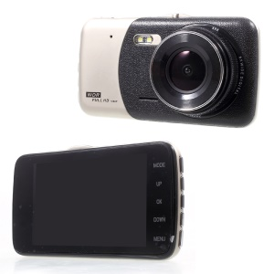 D503 4.0 inch 1080P Full HD Car DVR Video Recorder Dual Camera 170° Wide Angle Support G-sensor
