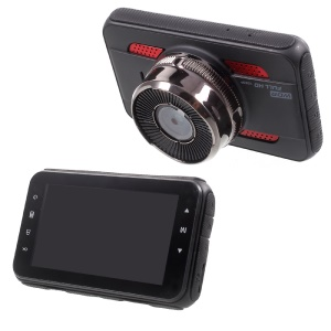 K107 3.0-inch Full HD 1080P Car Video Recorder Car DVR Support Loop Recording - Black + Red