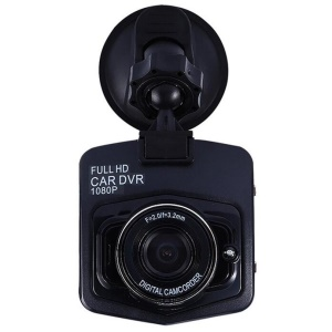 2.4-inch Shield Style Full HD 1080P 12MP Car Vehicle HD Dash Camera with 145° Wide Angle Lens - Black