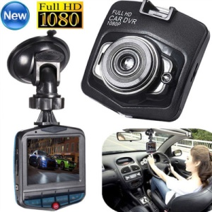 2.4-inch LCD HD 1080P Dash Cam Video Recorder Night Vision Mini Camera DVR Tachograph - Black