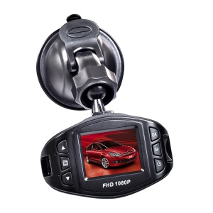 H500 Full HD 1080P 1.5-inch Car DVR CCTV Dash Camera G-sensor Night Vision Recorder - Black