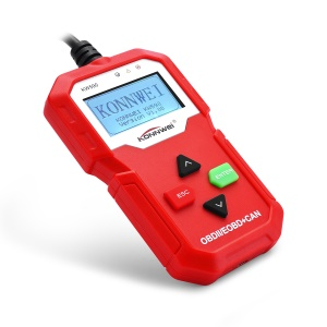 KONNWEI KW590 OBD2 CAN BUS Vehicle Engine Code Reader - Red