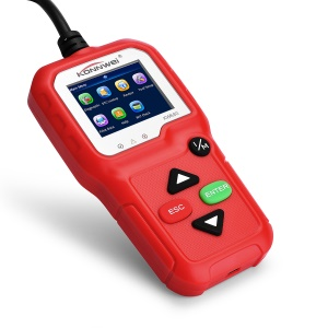 KONNWEI KW680 Professional OBDII/EOBD Scanner OBD2 CAN Bus Code Reader with TFT Color Display - Red