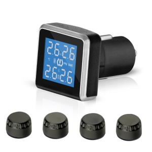PERSHN D8-WI Auto TPMS Tire Pressure Monitoring System + 4 External Sensors LCD Display