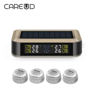CAREUD T601X-WF Wireless TPMS Tire Pressure Monitoring System + 4 External Sensors LCD Display Solar Energy