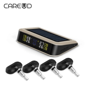 CAREUD T601X-NF+ LCD Display Solar Energy Auto Wireless TPMS Tire Pressure Monitoring System + 4 Internal Sensors