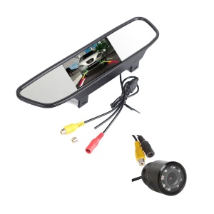 4.3 inch TFT LCD Screen Car Rearview Mirror Display with Back Camera PZ705+PZ402