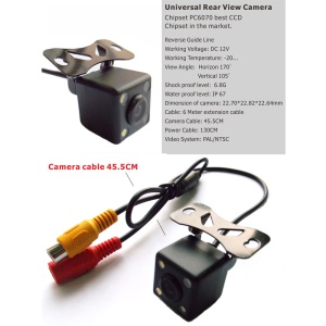 RM-RZ212L Car Rear View Camera Waterproof 170° Reverse Backup Monitor Night Vision Guide Line