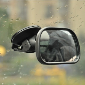 Suction Cup Back Seat Baby Viewing Shatterproof Mirror Baby In-Sight Auto Mirror - Black