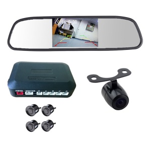 PZ604 4.3-inch Rear View LCD Car Parking Sensor Reverse Radar Alert Alarm System with 4 Sensors