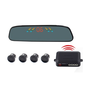 PZ306-W Wireless Car Parking Sensor Backup Reverse Rear View Radar Alert Alarm System with 4 Sensors