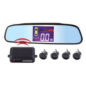 PZ314-W 2.5-inch LCD Wireless Car Parking Sensor Backup Reverse Rear View Radar Alert Alarm System with 4 Sensors