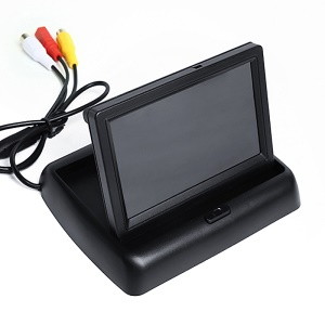 Foldable 4.3 Inch TFT LCD Car RVC Rear View Camera Parking Rearview Monitor