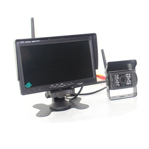 PZ607-W 24V 7 inch Large TFT LCD Monitor Wireless Video Transmit Car Rear View Backup
