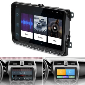 9 Zoll Bildschirm Android Autoradio Stereo GPS Navigation Bluetooth USB Player Für VW Golf MK5 MK6 Jetta T5 EOS POLO Touran Sitz Sharan