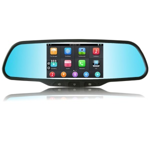 """Android 4.4 5"""" 3G WiFi Car Rearview Mirror Monitor with GPS DVR Bluetooth FM Transmitter"""