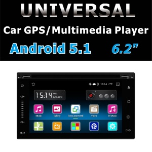 Android 5.1 Car DVD Radio Stereo 6.2 inch Capacitive Touch Screen 800 x 480 GPS Navigation Bluetooth USB SD Player