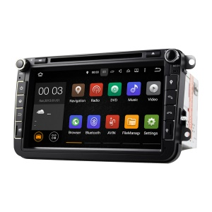 8 Inch Android 5.1.1 Quad-core RK3188A WiFi Bluetooth GPS Tracking Car DVD Player for Volkswagen - Black